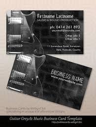 grey electric guitar business cards
