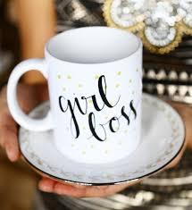 boss go getter lady polka dot gold black handlettered