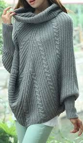 ponchos a palillo poncho con mangas y cuello knitting sweaters pinterest ponchos