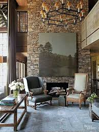 stone fireplace decor stone fireplace ideas the play of light and shadows across a stacked
