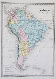 Map Of South Map Of South America 1867