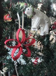 diy tree ornament using paper towel roll and ribbon