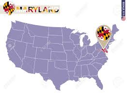 maryland map vector maryland state on usa map maryland flag and map us states