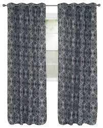 Curtains 95 Set Of 2 Lavish Home Dana Flocked Curtains 95 Transitional