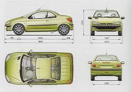 peugeot 206 convertible peugeot 206 cabriolet blueprints pinterest peugeot