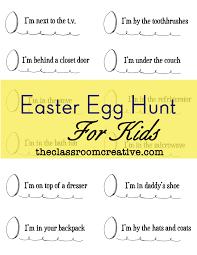 easter scavenger hunt for kids