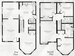 bedroom 2 story house plans on 4 bedroom house plans two story 4