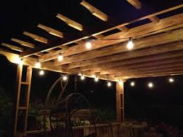 Patio String Lighting by Patio String Lights Canada Intended For Outdoor String Lighting