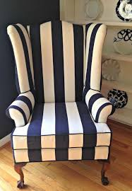 Wingback Armchairs For Sale Design Ideas Fancy Blue And White Striped Chair On Home Design Ideas With
