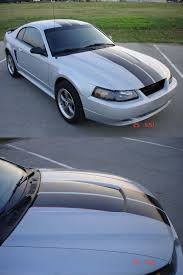Silver Mustang With Black Stripes Posts Automobile Racing Stripes Part 2