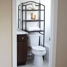 Over The Toilet Etagere Amazon Com Household Essentials 3 Tier Over The Toilet Storage