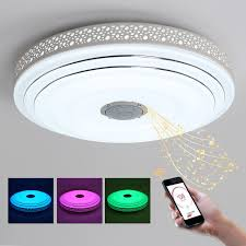 Changing Ceiling Light Bule Time L Modern Led Chandelier Lustres With Bluetooth