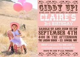 cowgirl birthday invitations cloveranddot com