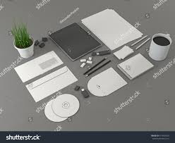corporate identity template set mock tablet stock illustration