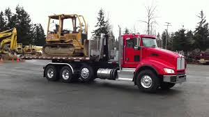 kenworth k200 for sale in usa 2012 kenworth t440 with swaploader sl 545 loading a cat d5c youtube