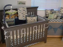Baby Boy Chevron Crib Bedding Vintage Cars Crib Bedding For Boys Retro Car Fabric And Chevron