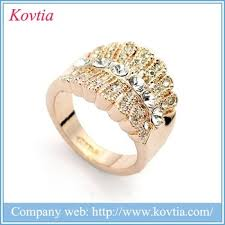 palladium jewelry luxurious yellow gold ring artificial design cheap
