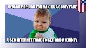 Success Baby Meme - success baby meme internet kid uses status in hopes to score dad a