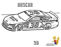 nascar 38 super fast car coloring print yescoloring cool