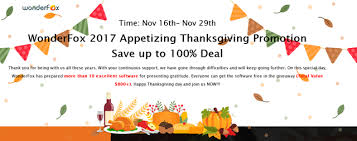 wonderfox thanksgiving day giveaway specials daves computer tips