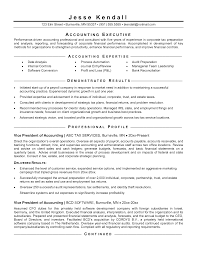 Professional Accounting Resume Templates Professional Accounting Resume Sample Job And Resume Template