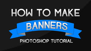 photoshop tutorial how to make banners and ribbons