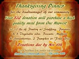 thanksgiving dinner donations
