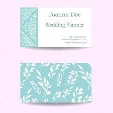Business Card Wedding Visiting Business Card Of Wedding Planner U2014 Stock Vector