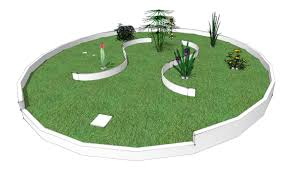 roaming hole gardens a miniature golf concept abstract archive