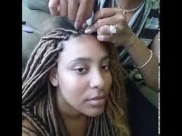 sewing marley hair faux dreads tutorial sew in youtube