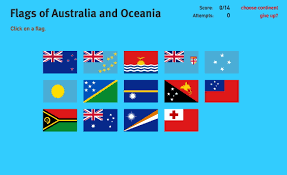 Map Of Oceania Interactive Map Of Oceania Flags Of Oceania World Geography Games