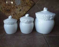 pottery canisters kitchen 3 canister set etsy