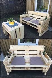 Patio Furniture Pallets by Outdoor Furniture Made Out Of Wood Pallets Simplylushliving