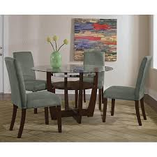 alcove dinette with 4 side chairs sage value city furniture