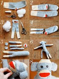 Spanish For Socks How To Make A Sock Monkey Monkey Socks And Craft