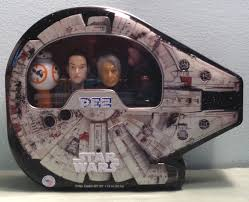 millennium falcon pez tin with bb8 rey han solo and chewbacca