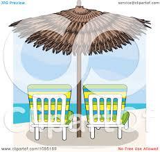 Beach Lounge Chair Umbrella Clipart Beach Lounge Chairs Under A Straw Umbrella Facing Towards