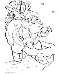 santa coloring pages 2017