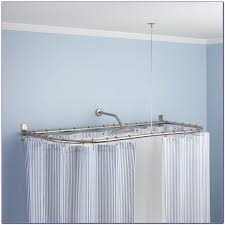 U Shaped Shower Curtain Rod Corner Shower Curtain Rod 36 X 36 Curtain Home Design Ideas