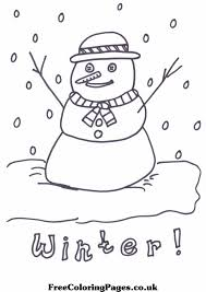 free winter coloring pages thelittleladybird