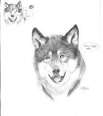happy wolf sketch by emolsifier on deviantart