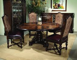 dark brown round kitchen table brilliant traditional dining room decoration ideas featuring