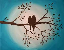 birds on branch painting and class just paint it blog