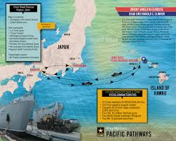 Map Of Pacific Army Mariners Sail For Japan In Support Of Pacific Pathways
