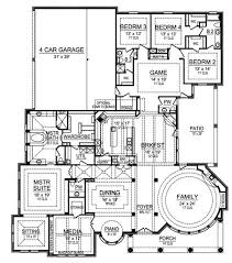 Game Room Floor Plans Gray Ridge 4951 4 Bedrooms And 3 Baths The House Designers