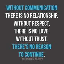 No Trust Meme - without communication there is no relationship without respect