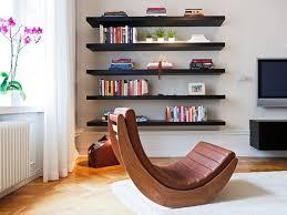 furniture 5 tier black polished wooden bookshelf attached on