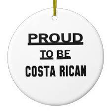 26 round costa rican flag ceramic christmas decorations zazzle