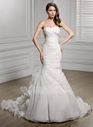 organza wedding dress trumpet mermaid chapel organza wedding dress with