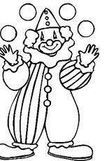 Coloriage clown en Ligne Gratuit à imprimer